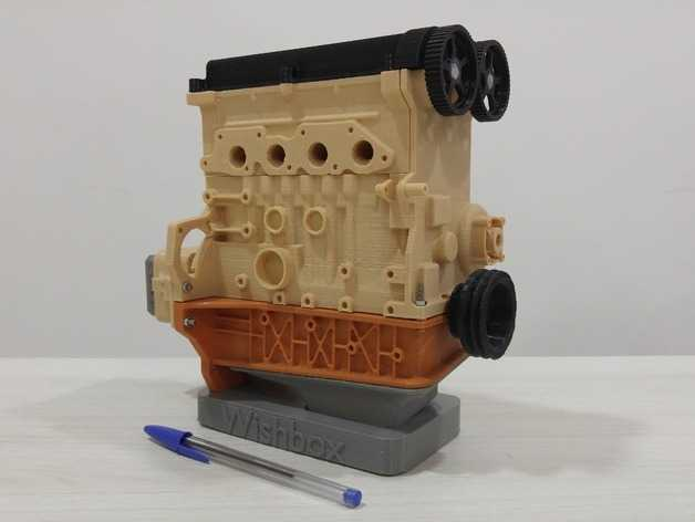 Projetos para impressora 3D - Ford Zetec Engine Scale Model