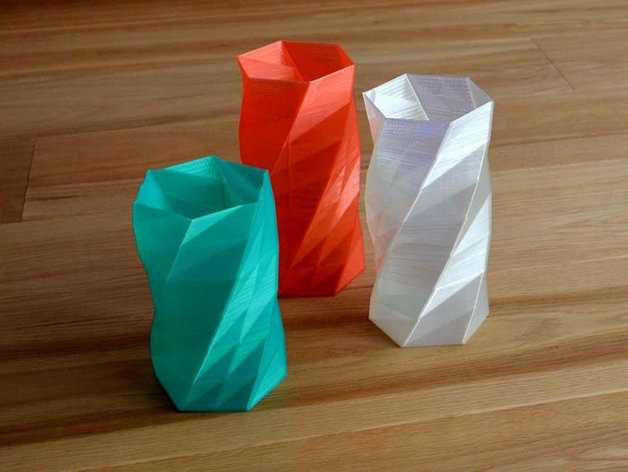 Projetos para impressora 3D - Twisted 6-sided Vase Basic