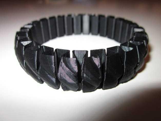 Projetos para impressora 3D - Stretchy Bracelet