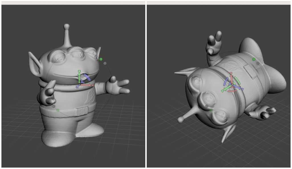 Rotação do modelo 3D no Meshmixer