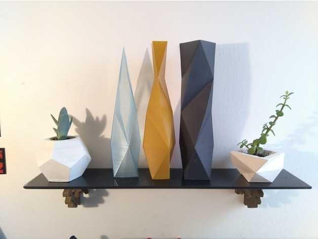 vasos de flores impressos em 3D